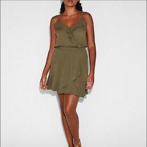 Express Ruffle Wrap Front Cami Wrap Dress
